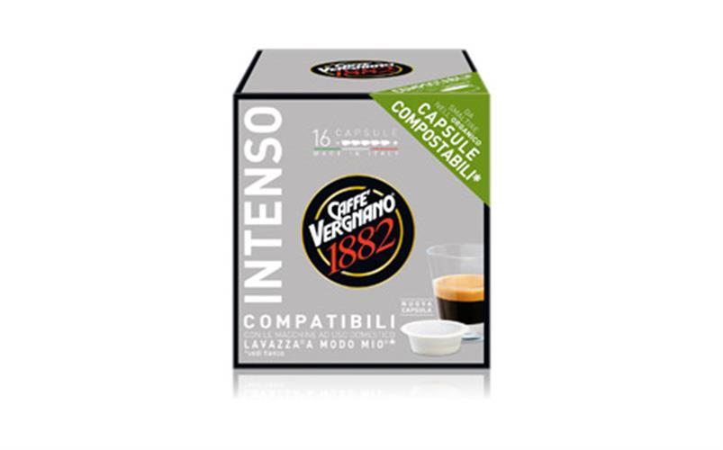 מארז קפסולות תואמות LAVAZZA 16 יחידות 1.6₪ ליחידה להכנת קפה אספרסו INTENSO [אפור] עוצמתי A Modo Mio