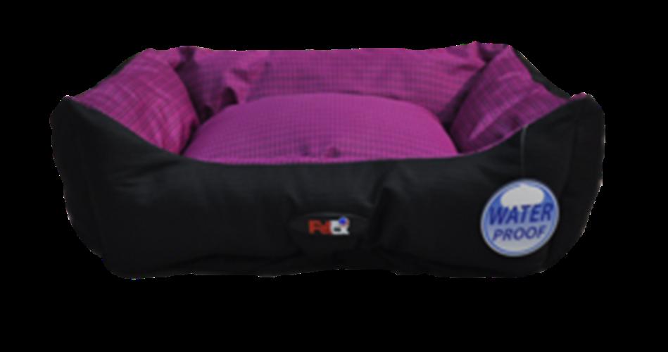 מיטה לכלב בצבע סגול מבד הדוחה מים גודל 60X50X20 פטקס