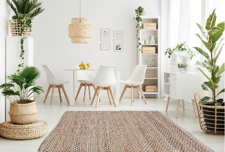 """שטיח דגם - """"ביתאל"""" יוטה איכותי בעבודת יד *2 צבעים*"""