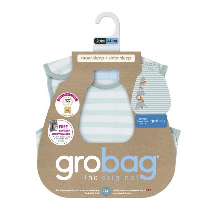 Grobag שק שינה מגדל חיות (0-6 חודשים / עובי 1)