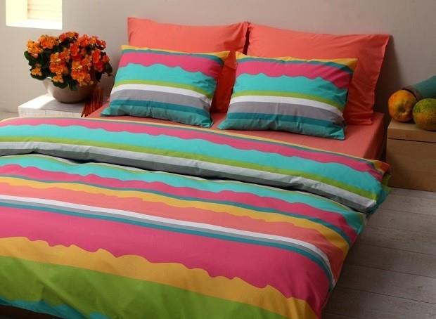 מצעים למיטת יחיד 100% כותנה - פריד דגם קניה
