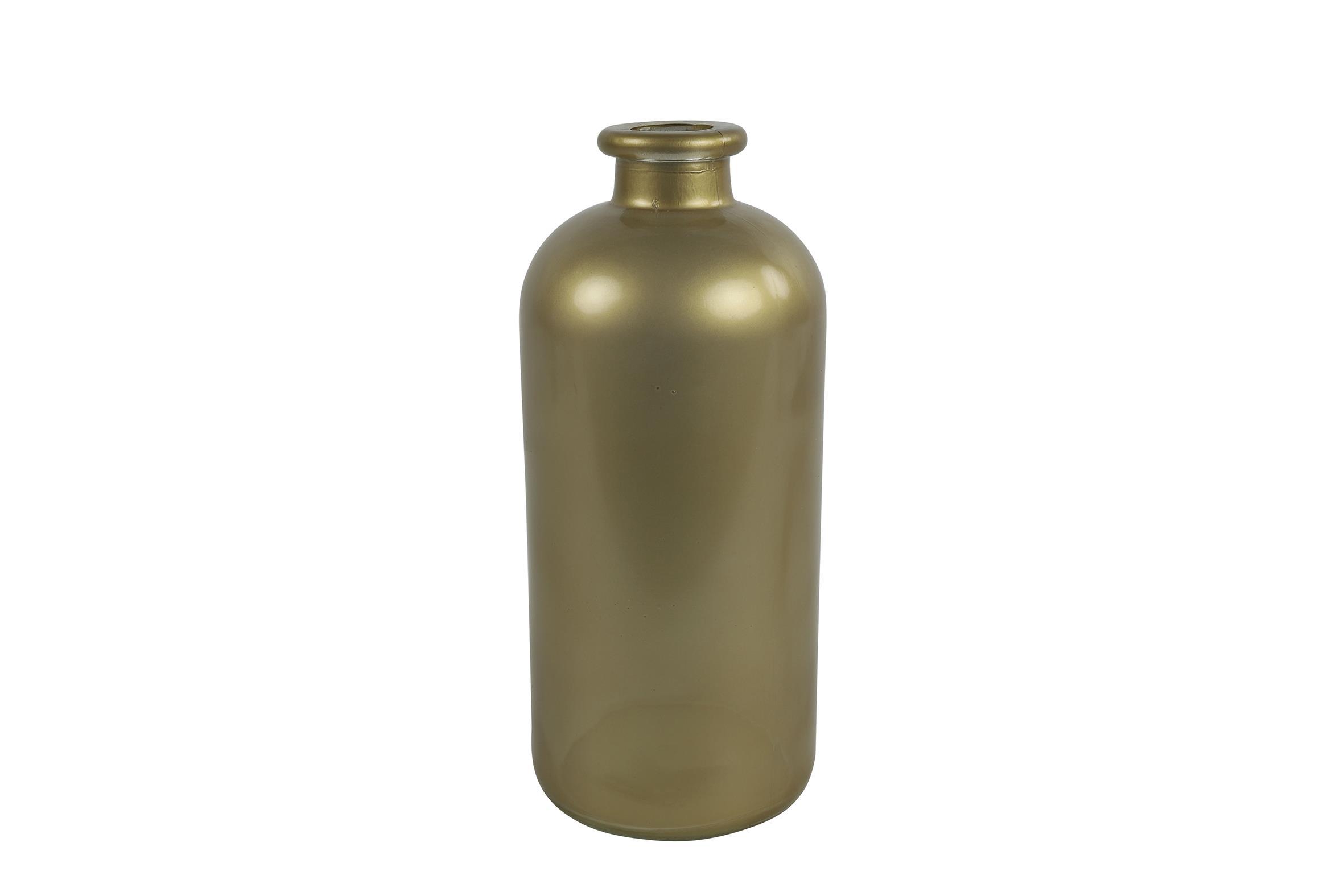 בקבוק זכוכית בגוון זהב M