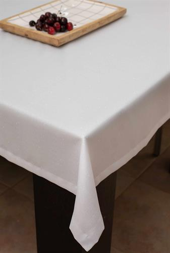 מפת שולחן יוקרתית מנצנצת אודרי - שמנת כסף