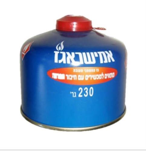 מיכל גז עם הברגה 230 גרם