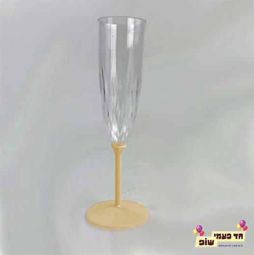 כוסות שמפניה רגל זהב