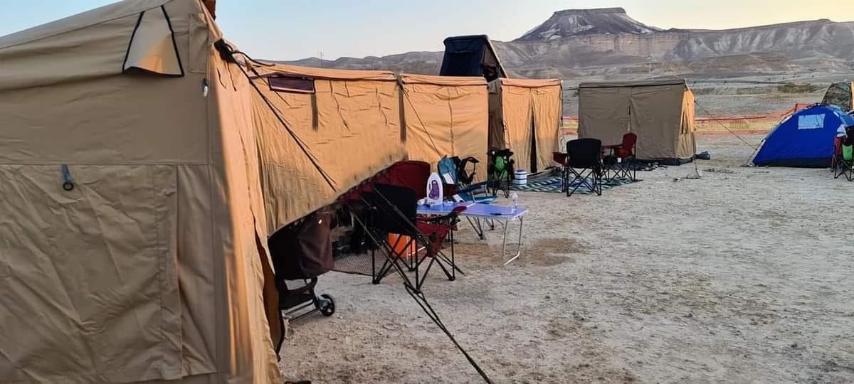 אוהל שטח מבצעי טקטי  2 מטר אורך עומק 2 מטר גובה 2 מטר