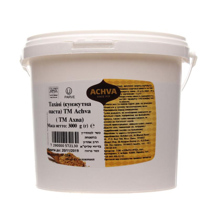 """טחינה אחוה  3 ק""""ג  דלי פלסטיק"""