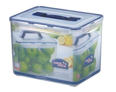 קופסאת אחסון 12 ליטר עם ידית ורשת דגם LOCK&LOCK  HPL889