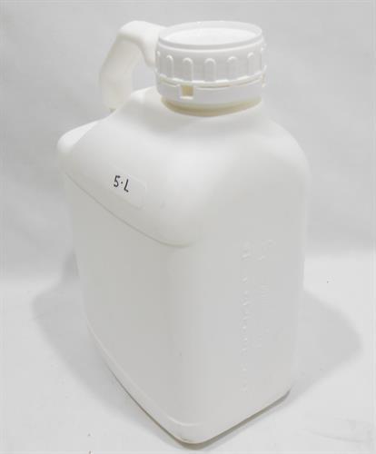 מיכל 5 ליטר עם תקן למי שתייה  צבע לבן פתח גדול מתאים גם למעבדה ולאכסון חומרים