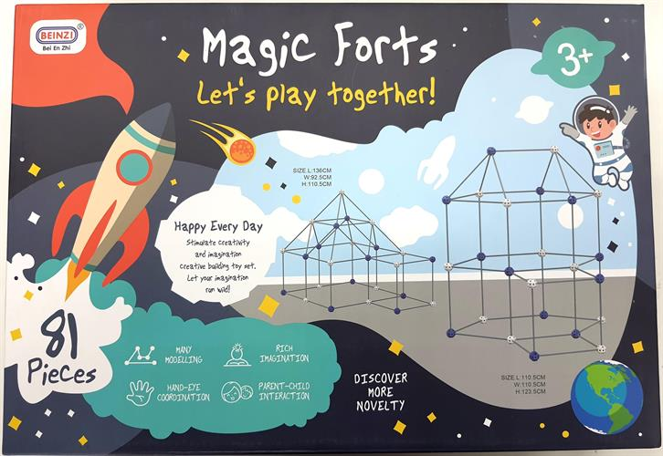 magic forts הרכבת מוטות ועיגולים