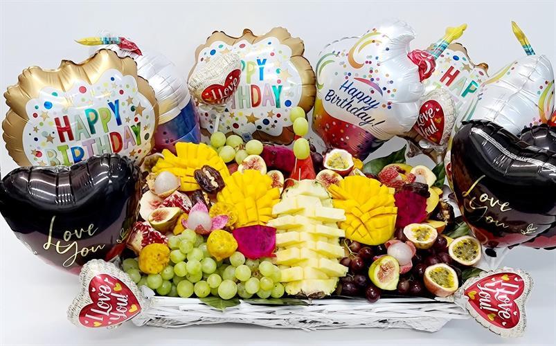 Fruit and Balloons basket - סל הנשיקות