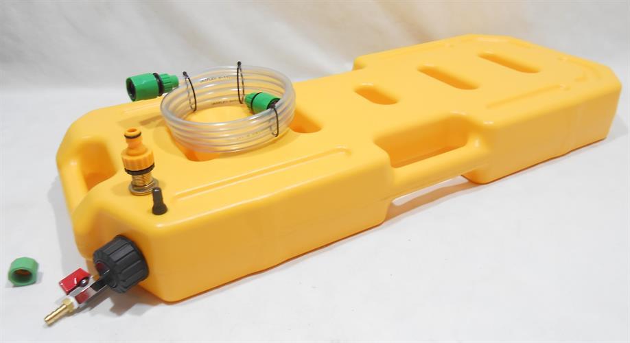 מיכל 20 ליטר פתח מילוי עליון  עם ברז ונשם צבע צהוב קמפינג לייף