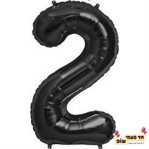 בלון 34 אינץ' 2 שחור (ללא הליום)
