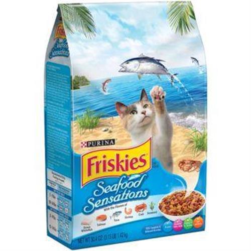 """פריסקיז כחול בטעם טונה,סלמון,דג אוקיינוס,שרימפס וסרטן מזון לחתול בוגר 7.26 ק""""ג"""
