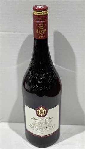 """יין צרפתי  Cellier du Rhone  אדום יבש  750 מ""""ל"""