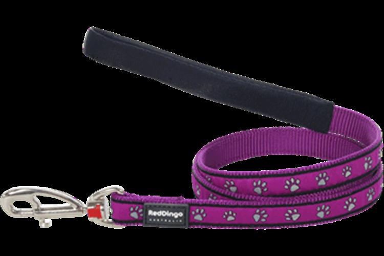 רצועה מעוצבת לכלב בינוני / גדול דגם סגול עקבות
