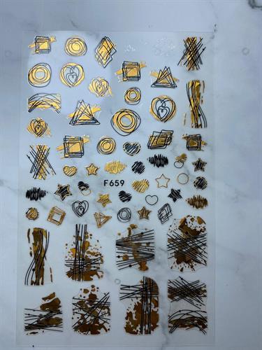 מדבקות 3D לציפורניים  סוגים שונים