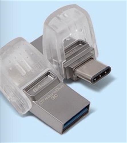 דיסק און קי USB 3.0  Kingston 128GB Data Traveler micro Duo 3C