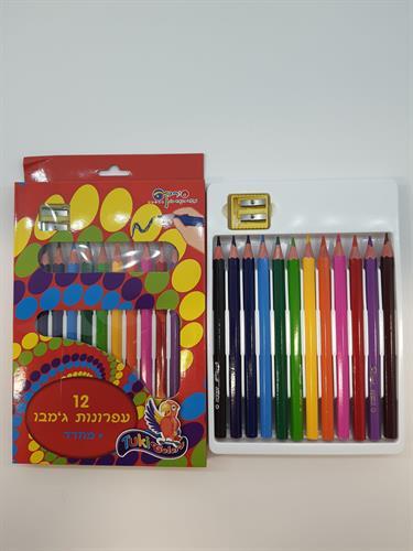 צבעי עיפרון עבים + מחדד