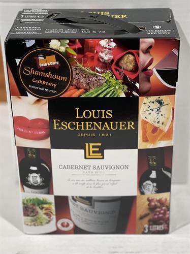 יין צרפתי  קברנה סובניון אדום יבש 3 ליטר