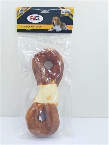 עצם דנטלית לכלב של חברת פטקס עם ציפוי בשר ברווז מובחר לניקוי שיניים בכלבים 185 גרם