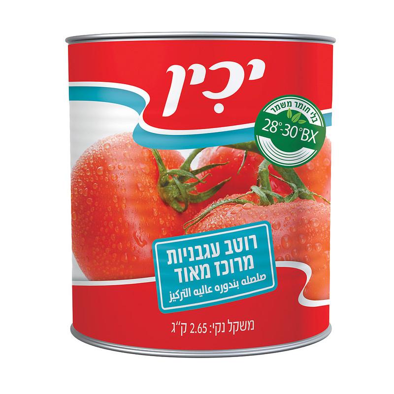 """יכין רסק עגבניות 28% 2.500 ק""""ג"""