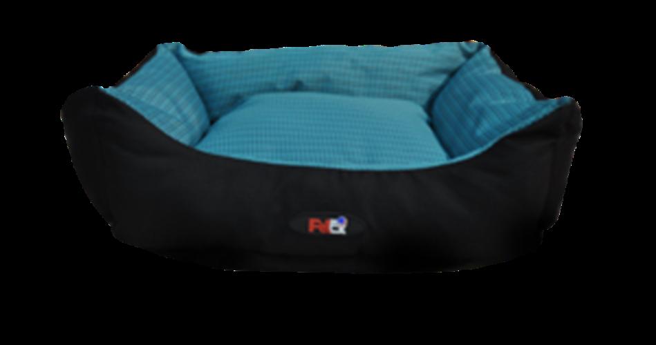 מיטה לכלב בצבע כחול מבד הדוחה מים גודל 60X50X20 פטקס