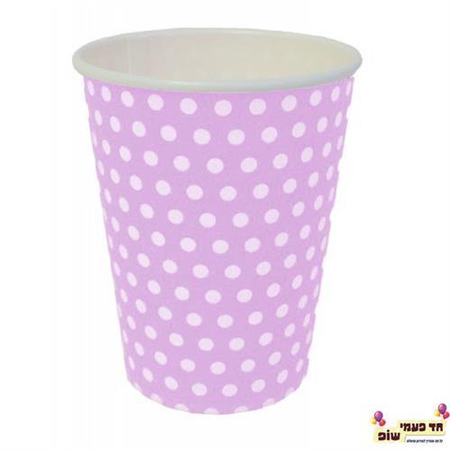 כוסות חמות ורוד נקודות