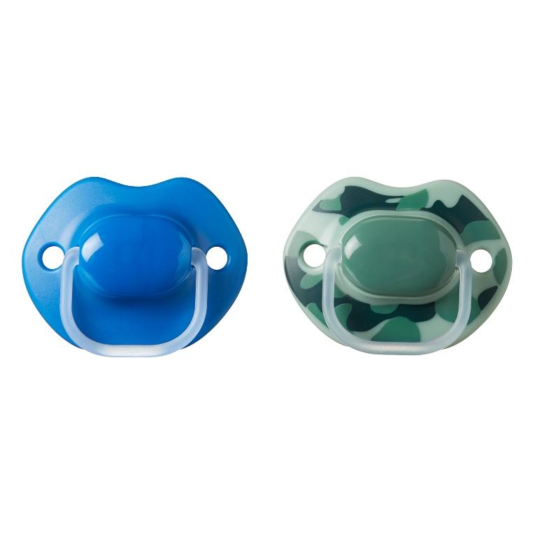 הכי טבעי זוג מוצצים בעיצוב אורבני 6-18 כחולים