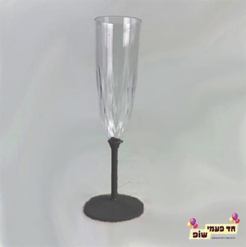 כוסות שמפניה רגל שחור