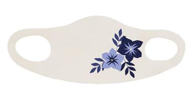 מסיכה פרחים כחולים
