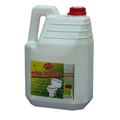 חומצת מלח 4 ליטר  חדש  10%