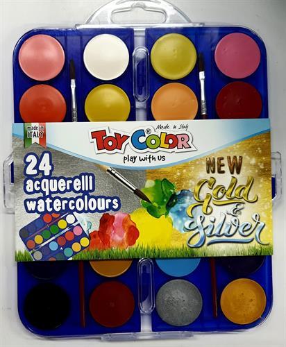 צבעי מים 24 יחידות