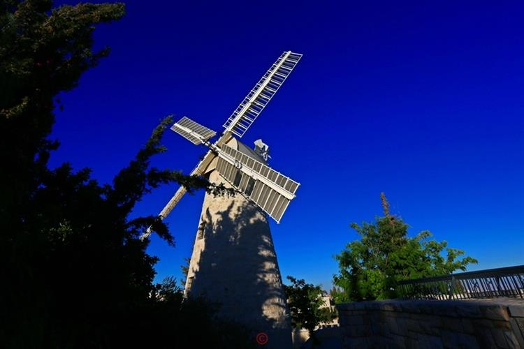 Support Israel and get this picture: Montefiore Windmill, Jerusalem
