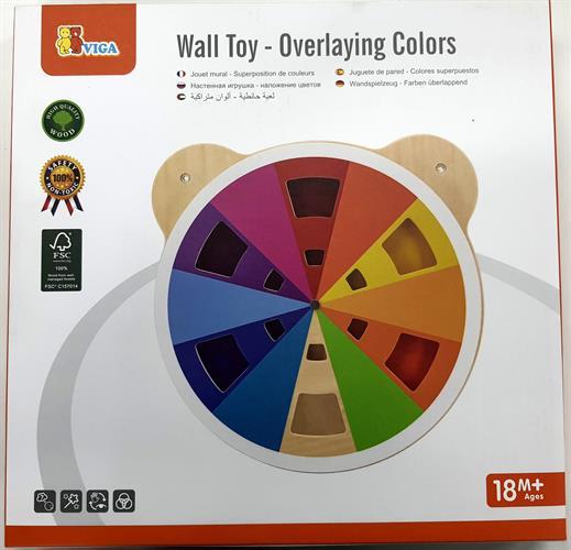 לוח פעילות לקיר דגם ראש דובי מבוך צבעים