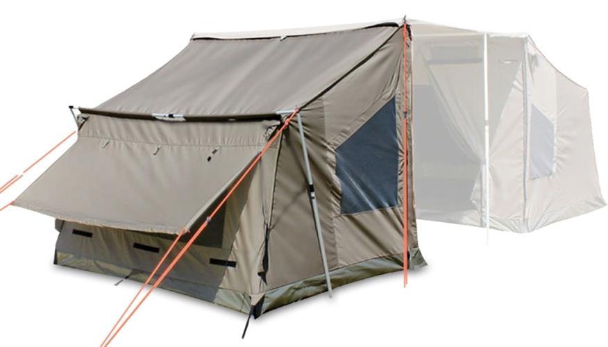 אוהל  עם  סככת צל אורך 2.5 מטר עומק 2 מטר גובה 2 מטר