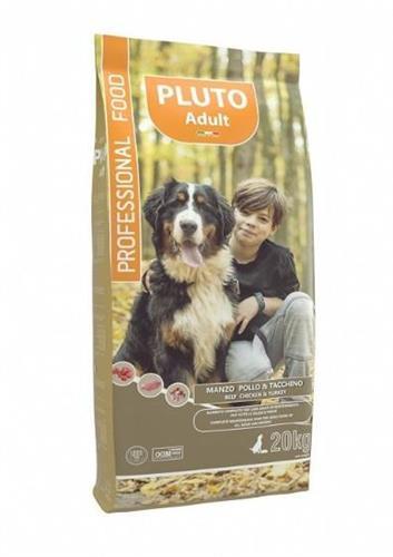"""Pluto פלוטו 20 ק""""ג מזון יבש לכלבים בוגרים בטעם עוף"""