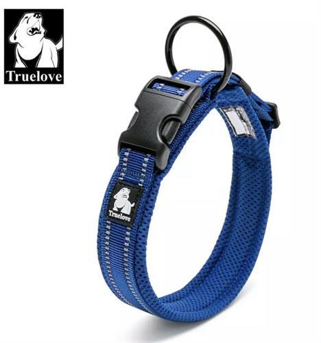 קולר מרופד לכלב גדול/ענק-XXL-צבע כחול