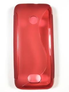 מגן סיליקון לנוקיה 208 NOKIA בצבע אדום