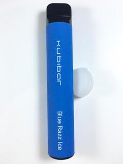 סיגריה אלקטרונית חד פעמית כ 1500 שאיפות Kubibar Disposable 20mg בטעם פטל אייס Blue Razz Ice