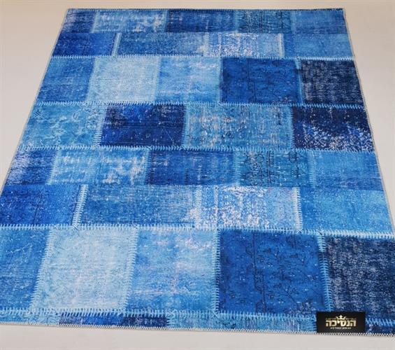 שטיח מודפס כחול