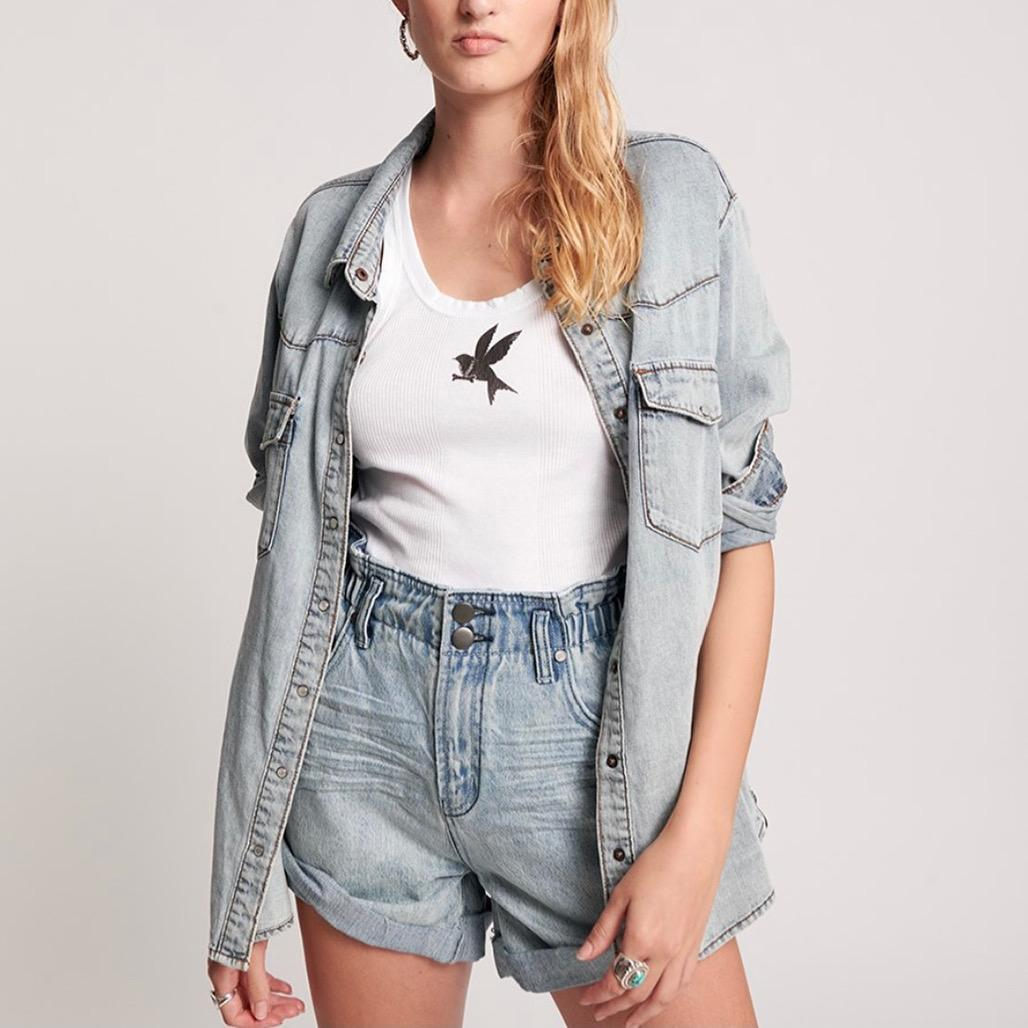 שורט ג'ינס קלאסי | One