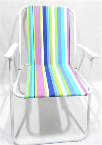 כיסא  ים בריכה  פיקניק  קמפינג  מתקפל קל ''קיסריה'' פסים צבעוני קשת