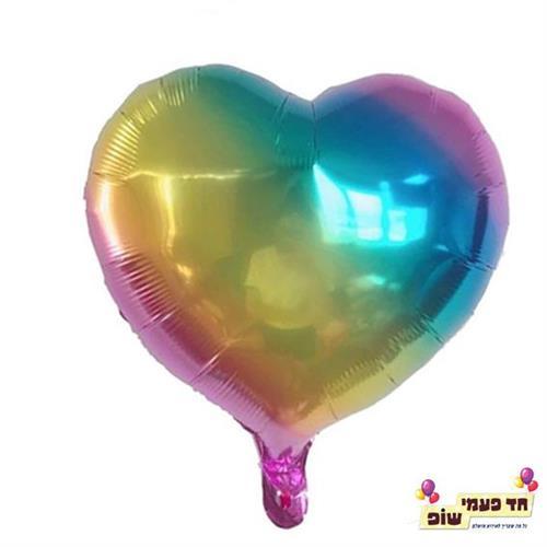 בלון לב 18 אינץ' צבעוני (ללא הליום)