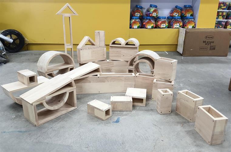 קוביות עץ 29 יחידות בצורות שונות איכותי מאוד