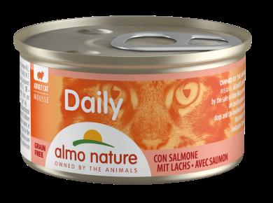 אלמו נייצ'ר דיילי מעדן לחתול על בסיס מוס סלמון 85 גרם - ALMO NATURE DAILY
