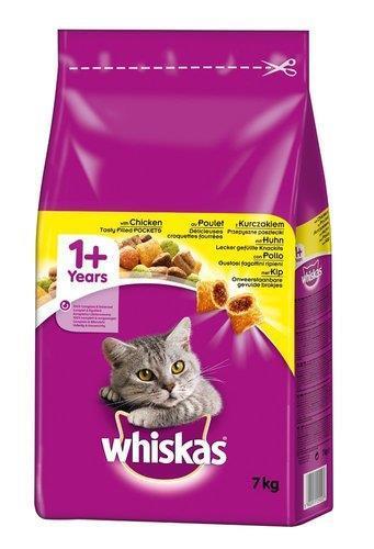 """מזון יבש לחתולים לבוגרים עו ף7 ק""""ג Whiskas"""