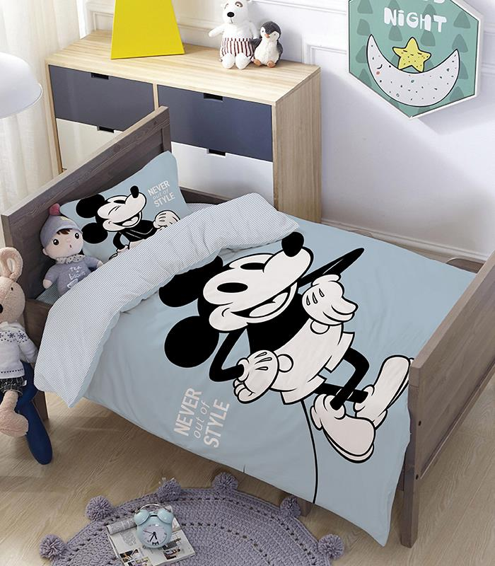 מותגים למיטת מעבר \ תינוק - בלו סטייל 100% כותנה
