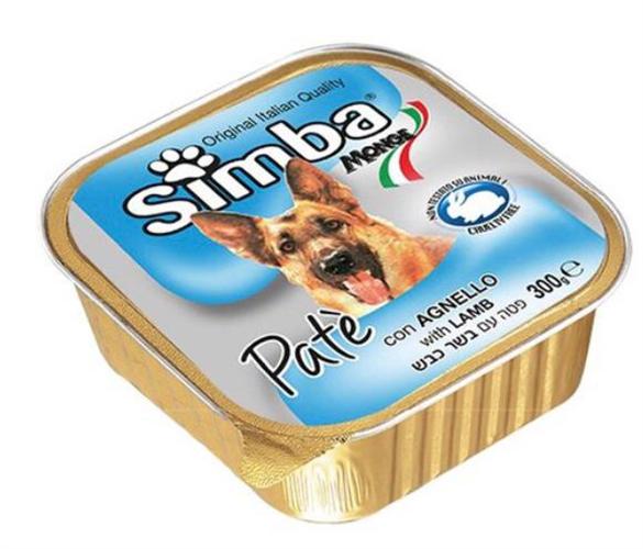 סימבה מעדן פטה לכלב 300 גר -בשר כבש-