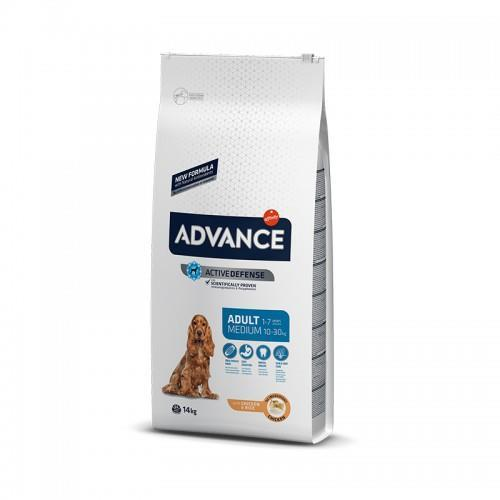 8410650172682 מזון יבש לכלבים בוגרים מעל גיל 8 חודשים מגזע בינוני מבוסס עוף ואור Advance